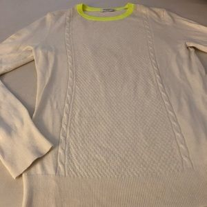 Equipment Sweaters - Equipment cable-knit crewneck sweater size M